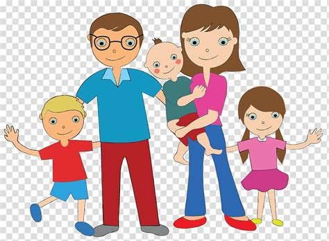 family cartoon family transparent background png clipart