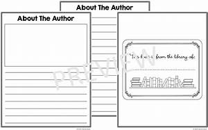 free book template printables rachel k tutoring blog With about the author template