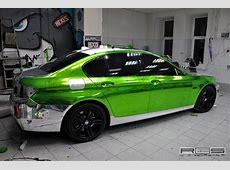 Chrome green ReStyling BMW 550i shows off new fashion