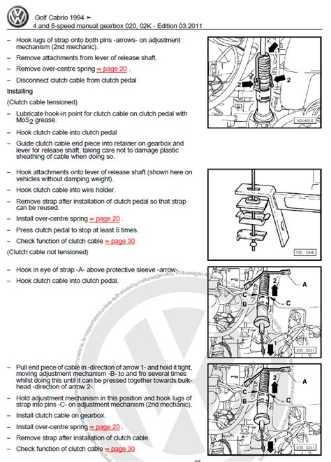 car repair manuals online free 1995 volkswagen golf iii electronic valve timing volkswagen golf cabriolet 1994 2002 manual factory manual