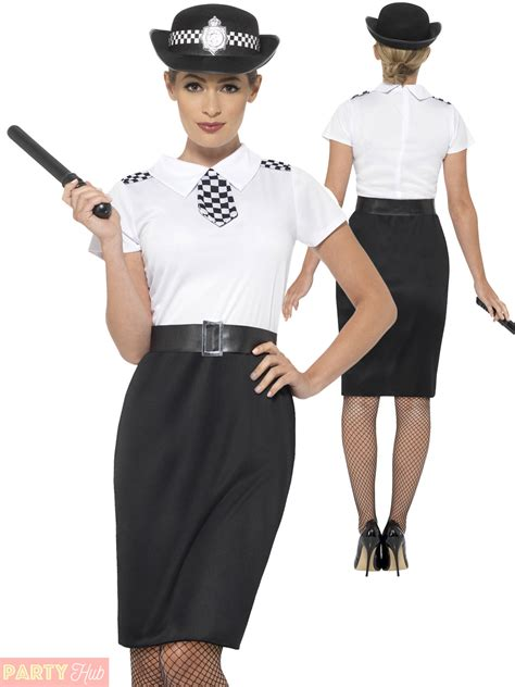 Ladies Police Lady Officer Costume Adults Womans WPC Cop Fancy Dress Outfit | eBay