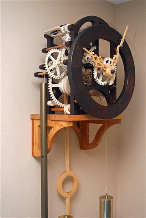 wooden gear clock plans  hawaii  clayton boyer