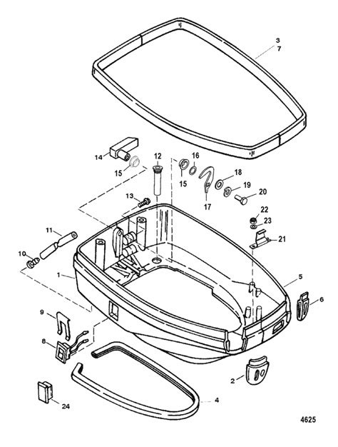 Mercury Marine Cylinder Bottom Cowl Parts