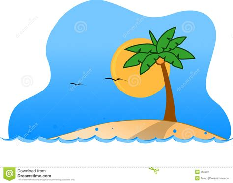 Tropical Island Clipart