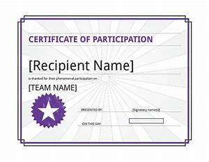 free templates for certificates of participation - 28 microsoft certificate templates download for free