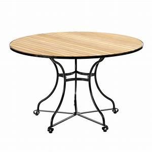 Tisch Rund 100 Cm : fontenay tisch rund 120 teakleisten garpa ~ Whattoseeinmadrid.com Haus und Dekorationen