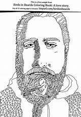 Coloring Beard Createspace Beards Publishing Self Bearded Colour sketch template