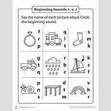 Review Beginning Sounds R, S And T  Worksheet Educationcom