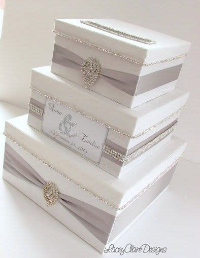 white wedding card box box for wedding cards bling card