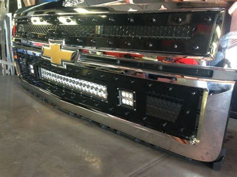2014 2015 chevrolet 1500 silverado led light bar grill