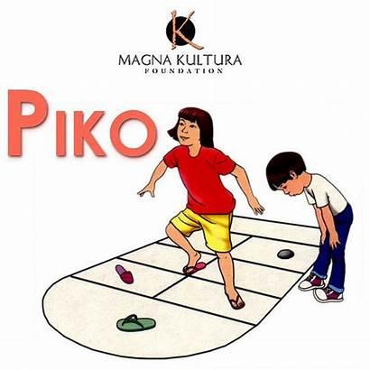 Games Pinoy Clipart Lubid Piko Luksong Filipino