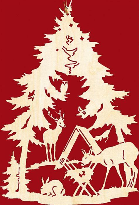 Fensterbild Weihnachten Wildfütterung