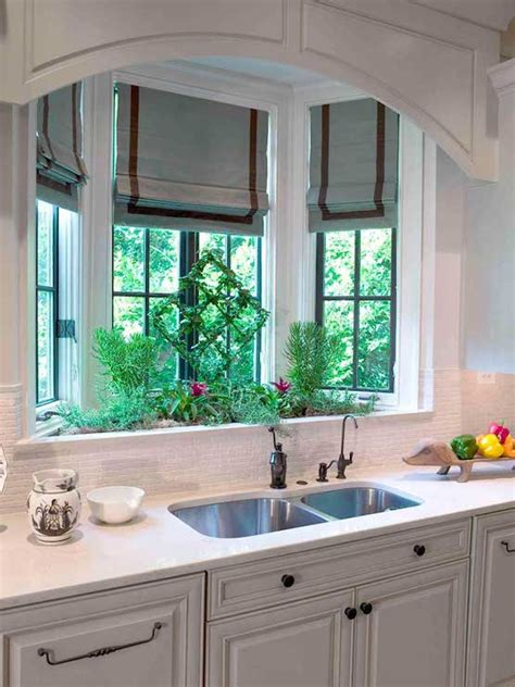 Bay Window Kitchen Sink  Transitional  Kitchen