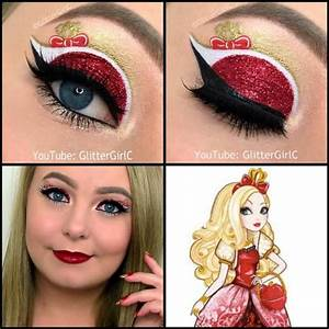 Ever After High Apple White Makeup look | Halloween ...