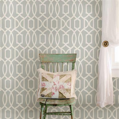 wallpops grand trellis grey peel stick wallpaper lm