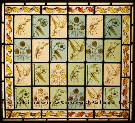 stained glass window antique painted stained glass window by philip webb