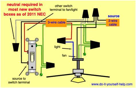 wiring diagrams   ceiling fan  light kit    helpcom