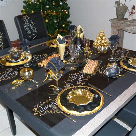 table de no 235 l chic d 233 co arts de la table noir ivoire et or f 233 ezia
