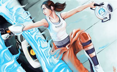 Updated Chell Portal 2 By Littlemeesh On Deviantart