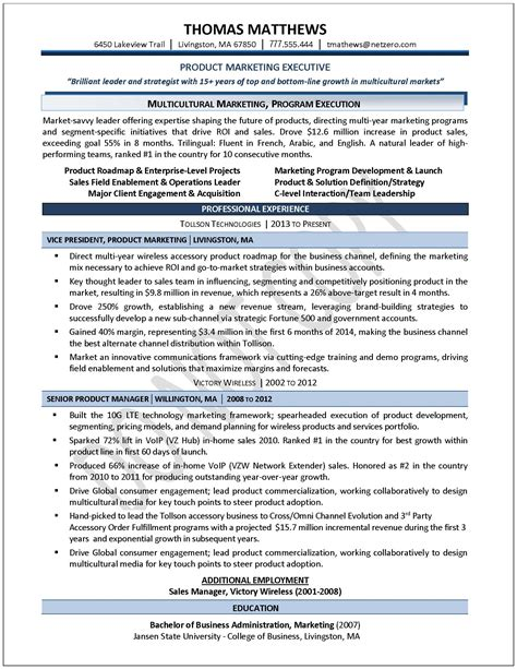 executive resume sles professional resume sles