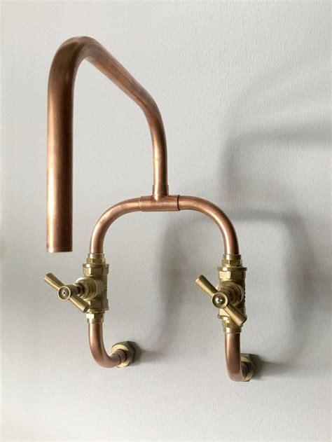 loop wall mount industrial handmade copper faucet