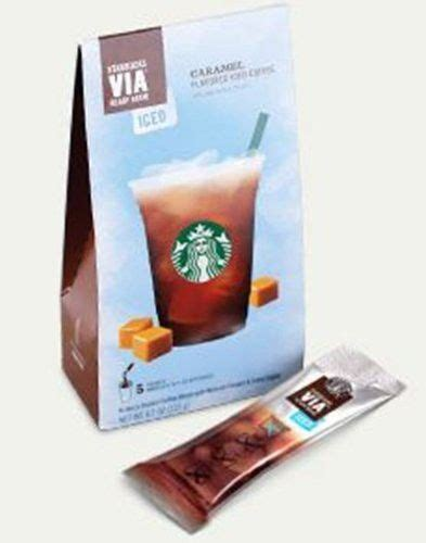 Brew to enjoy 4 to 6 cups, and recycle once you're done. Starbucks VIA® Ready Brew Iced Caramel Flavored Coffee (3 Pack/Boxes) 5 Packets Each Box | Cold ...