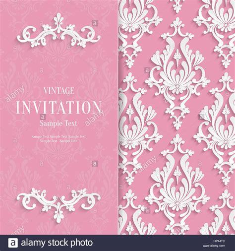 vector pink floral  wedding invitation background