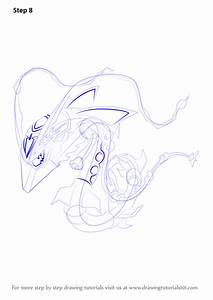 Step By Step How To Draw Mega Rayquaza From Pokemon