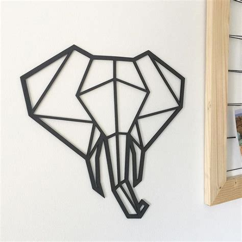 Cabeza Geométrica de Elefante Cuelgame