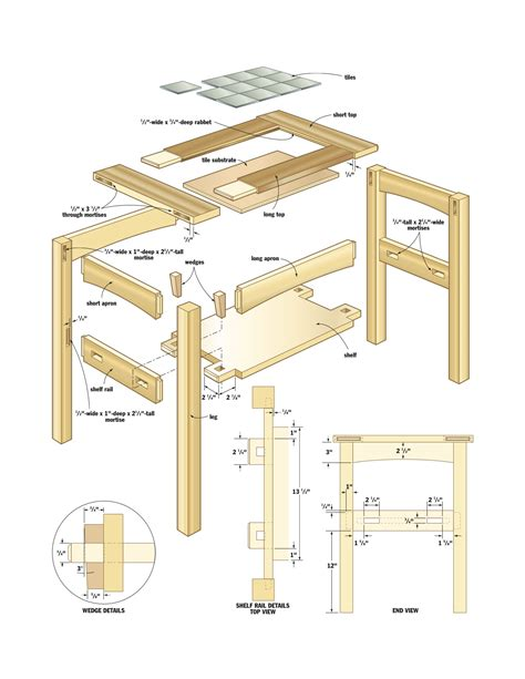 wood side table plans pdf diy woodworking projects mission download garage shop