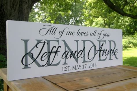 christmas gift personalized wedding sign wedding