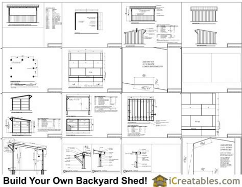 12x16 Shed Plans Material List by 12x16 Run In Shed Plans
