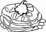 Coloring Pancake Breakfast Pages Pancakes Super Sheet sketch template