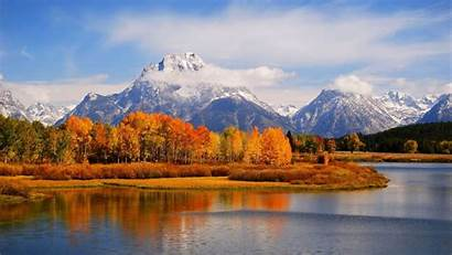 Forest Mountain Scenery Landscape River Widescreen Nature