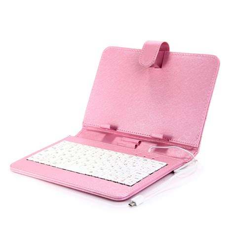 Leather Keyboar Tab 7 Micro universal leather keyboard holster with micro port