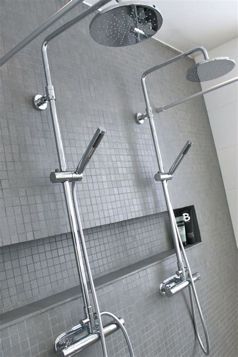 tiled shower niche shower shelf bathroom awesome