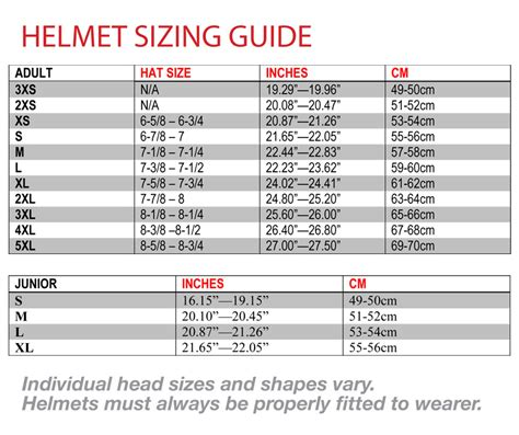 how to size motocross motorcycle helmet size chart helmet size chart