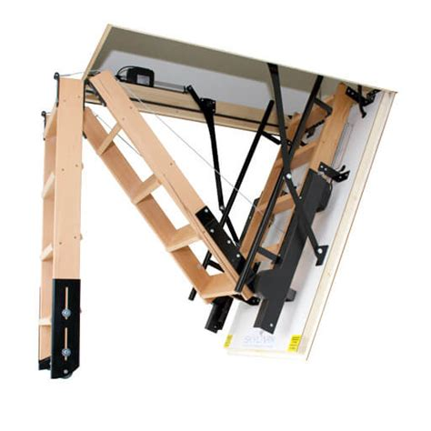 folding staircase skylark electric folding attic stairs premier loft ladders