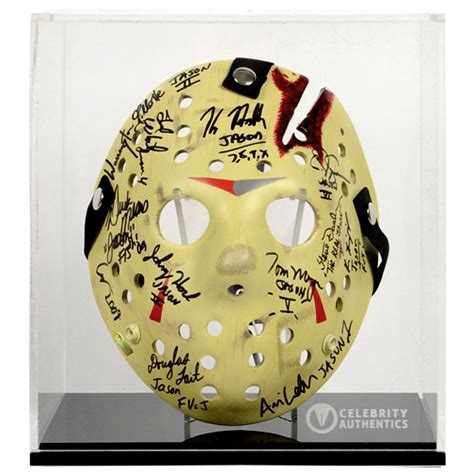 friday   jason voorhees cast autographed mask