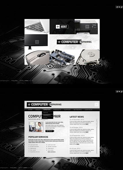 Computer Repair Web Template Free by Computer Repairing Html5 Template Id Number 300111668