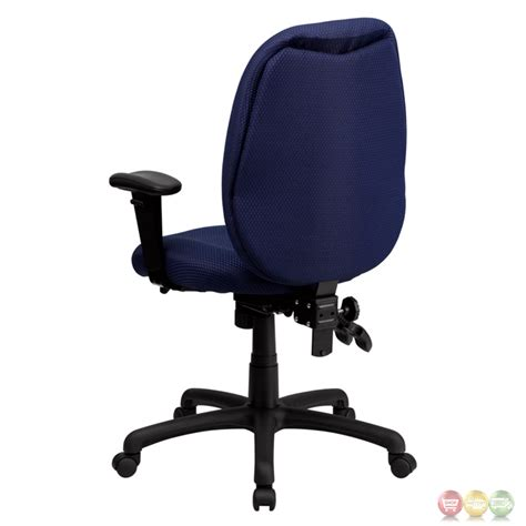high back navy fabric executive swivel office chair w