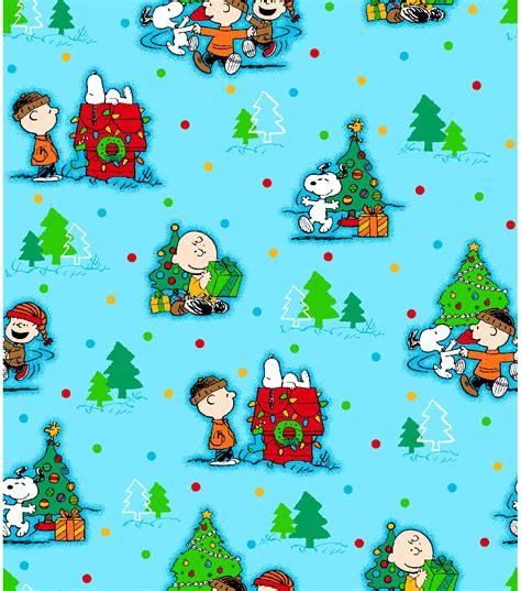 holiday inspirations fabric peanuts christmas scenic
