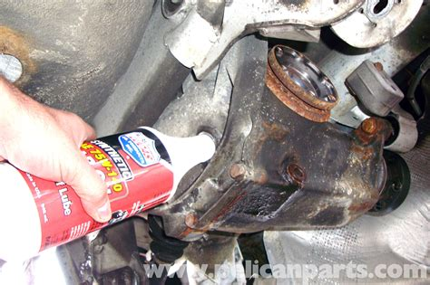 bmw   series rear differential fluid replacement