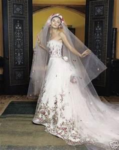 Lazaro 3119 wedding dress hand embroidered floral for Floral embroidered wedding dress