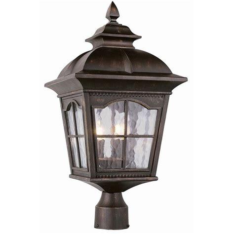 tudor revival outdoor post light