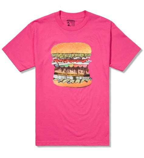 burger pink shirt drug