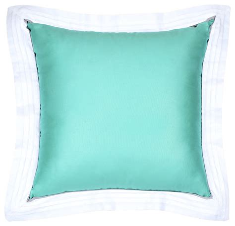 Sateen Tiffany Blue Flange Pillow  Modern  Decorative. Beach Themed Curtains. White Living Rooms. Storage Bench Seat. Bookshelf Designs. Standard Pacific Homes Tampa. Shimmer Rug. Vintage Trash Can. Neal Communities Reviews