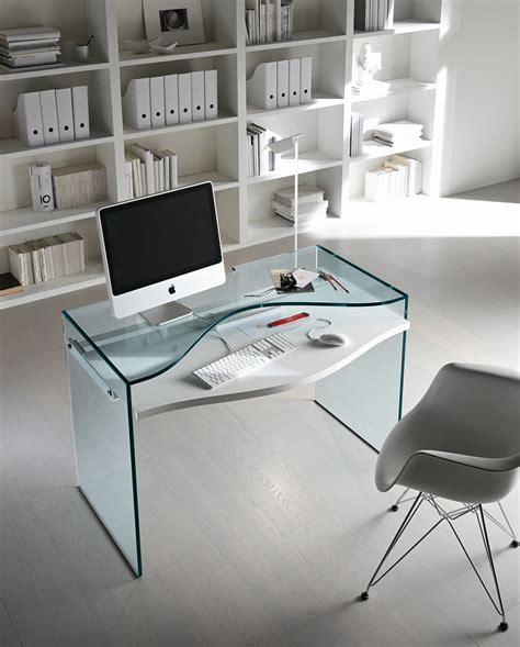bureau pc design bureau en verre pour pc strata by t d tonelli design