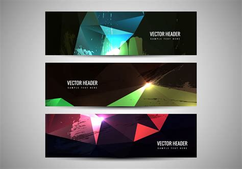 vector colorful headers   vector art