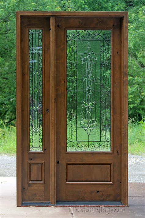 rustic glass doors full lite entry door knotty alder